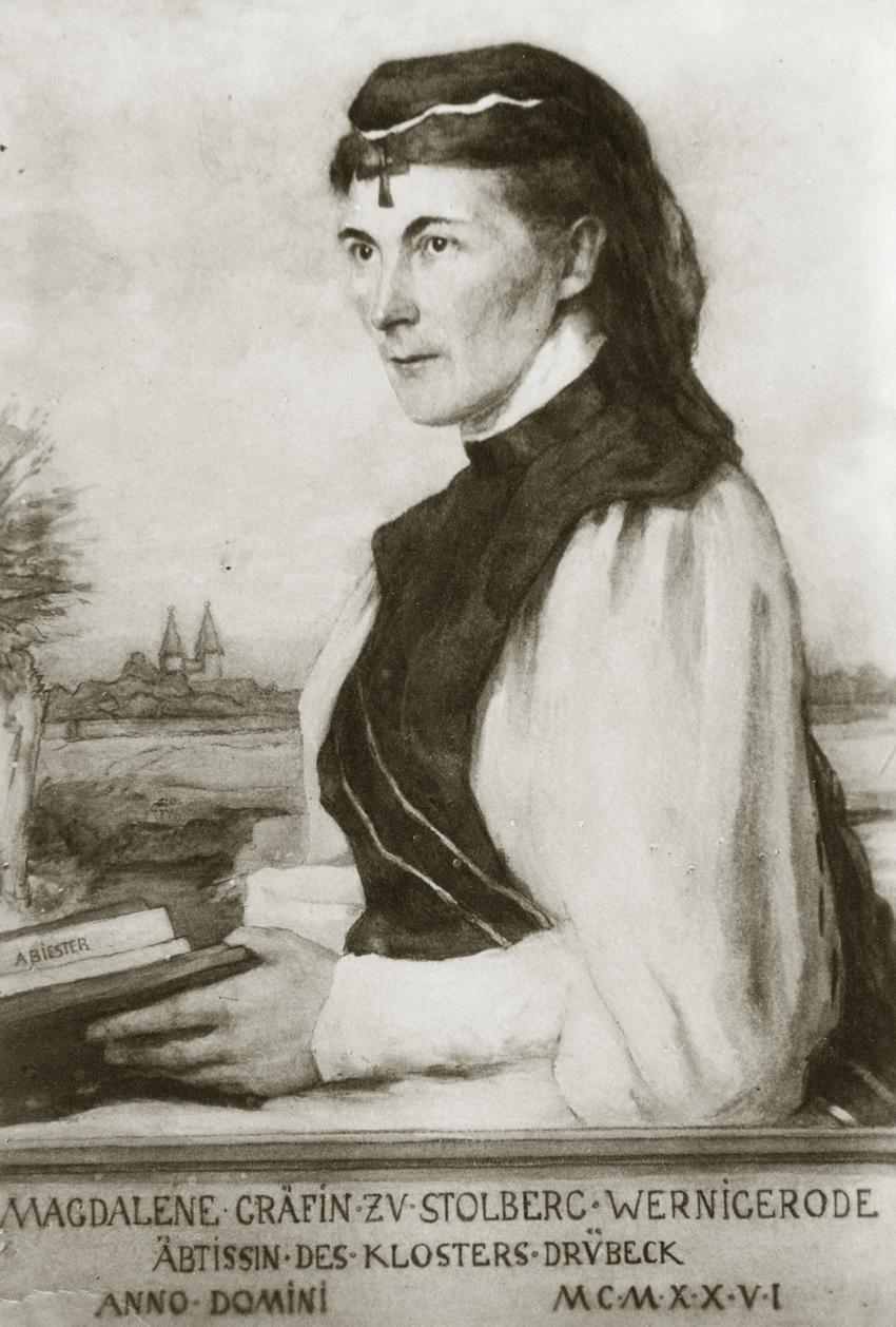 Magdalene Gräfin zu Stolberg Wernigerode Äbtissin im Kloster-Drübeck