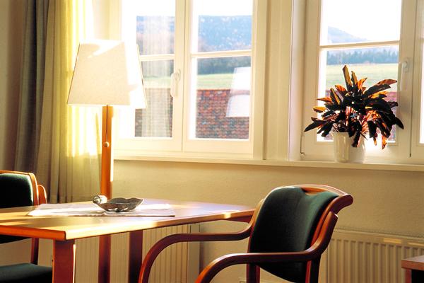Haus der Stille, Blick in ein Zimmer, Kloster Drübeck